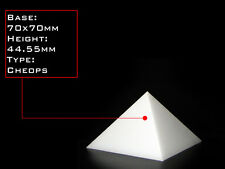 Orgonite Casting Giza Pyramid Mold, 70 X 70mm Base,  Self-Lubricating HDPE