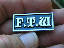 UK ~ FTW LAPEL PIN F**K THE WORLD BADGE fit Harley Davidson *NEW Motorcycle Vest