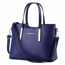 Navy Blue Women Handbag Shoulder Bags Tote Purse Leather Lady Messenger Hobo Bag