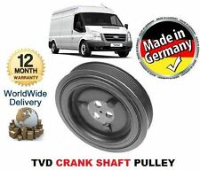 FOR FORD TRANSIT 2.4 TDCi & VAN BUS CHASSIS 2006   TVD CRANK SHAFT PULLEY