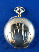 Tiffany & Company Sterling Silver Locket Dated 12/25/1990 Monogram Scroll M