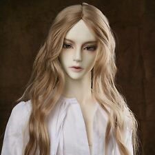 9-10'' 1/3 BJD Boy Men Doll SD Wig Dollfie DZ DOD LUTS Charm Brown Curly Hair