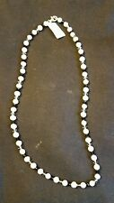 Swarovski Elements Black Diamond, Freshwater Cultured Pearl Necklace