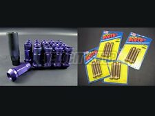 Muteki SR48 Lug Nuts Purple ARP Wheel Studs 16 pcs Civic EG EK Integra DC2