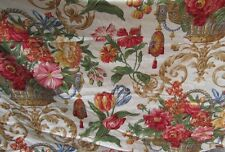 6 3/4 YARDS BRAEMORE FLORAL FABRIC ~ DRAPERY / UPHOLSTERY