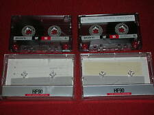 VINTAGE  2 AUDIO CASSETTE   SONY HF 90  TYPE I  NORMAL  BIAS 120 ( ANNI '90 )