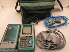 Fluke Omniscanner Cable Tester w/ 2x Perm-Link Adapter, 2x MOD-8, Charger & Case
