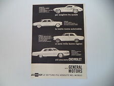 advertising Pubblicità 1963 CHEVROLET CORVETTE/CORVAIR/CHEVY II/IMPALA