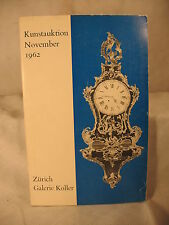 old Zurich Switzerland auction catalog Galerie Koller clocks antiques paintings