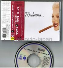 "MADONNA Deeper And Deeper EP JAPAN 12-track 5"" MAXI CD w/OBI WPCP-5244 Free S&H"