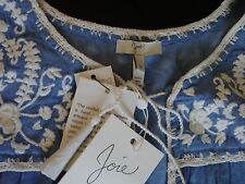 NWT - 198$ Joie Gavriel' Embroidered Chambray Shell Top size M