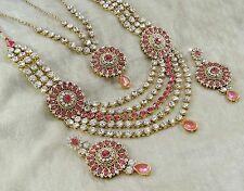 Indian Traditional Goldtone Necklace Set New Bollywood Designer Bridal Jewelry