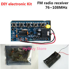 DIY electronic Kit stereo wireless FM radio receiver PCB 76~108MHz for assemble