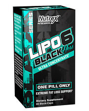 Nutrex LIPO 6 BLACK HERS Female Fat Destroyer Ultra Concentrate - 60 Capsules