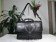 NWT Coach Lexington Leather Flap Briefcase Laptop Bag F71073 Black