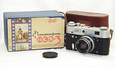 FED-3 Russian Rangefinder 35mm Camera BOXED USSR LEICA copy w/case Industar 61