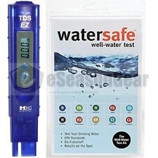 TDS-EZ + WS-425W Well Water, HM Digital TDS ppm Meter + Watersafe Test Kit