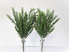 Paquete De 2 artificial Romero Bush - 34cm-Planta Decorativa Plástico Hierba