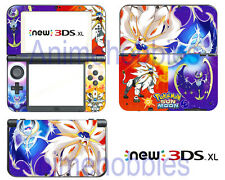 Anime Pokemon Sun / Moon Vinyl Skin Stickers Decals for Nintendo New 3DS XL 2015