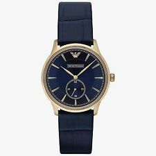 New Emporio Armani Classic Watch - AR1848 - Gold Case and Blue Dial NEXT DAY DEL