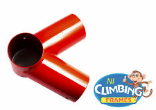 ONE BRAND NEW Swing Corner Round Bracket RED 100mm For Wooden Climbing Frame