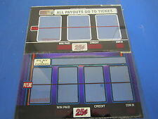 Lot of 2 Bally Gaming Inc. 1 Payline Reel Glass Blue Slot Machine Casino -
