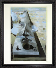 Apparition of the Face of Aphrodite by Dali. Framed Poster Print Dark Wood Frame