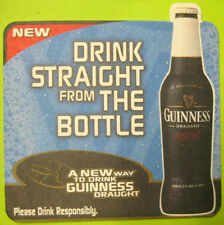 GUINNESS DRINK STRAIGHT FROM THE BOTTLE Beer COASTER, Mat, IRELAND, 2000 issue