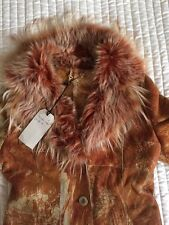 BNWT 100% SHEEPSKIN SHEARLING GENUINE LEATHER LONG COAT SIZE M