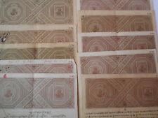 10 Pcs LOT -  British india - 5 Rupees - KG V - George V - Stamp Bond Paper