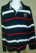 CLAUDIO CAMPIONE Sport White Marlin Yachting Mens Striped Polo Shirt Sz 2XL
