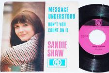 """SANDIE SHAW -Message Understood- 7"""" 45"""