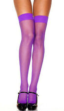 Leg Avenue 9011 Purple Fishnet Thigh High Stockings Sexy Lingerie Rave Costume