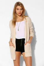 BDG Urban Outfitters Beige Rolled-Sleeve London Open Cardigan Sweater Boho M