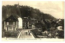 CPA 38 Isère Saint-Laurent-du-Pont Le Pont sur le Guiers animé
