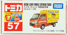 Tomy Tomica 57 SUZUKI CARRY MOBILE CATERING TRUCK 1/55 scale (4904810801252)