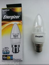 ENERGIZER LED CANDLE 5.9W=40W BC CLEAR WARM WHITE NON DIMMABLE ECO ENERGY SAVING