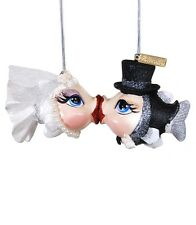 Katherine's Collection bride groom kissing fish ornament Getting Hooked NEW