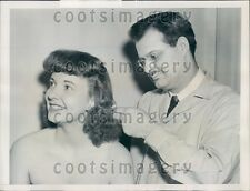 1940 NYC Hair Stylist Victor Vito With Personality Girl N Bridges  Press Photo
