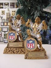 FANTASY FOOTBALL CHAMPION AND RUNNER UP MONSTER SET OF TWO FFL TROPHY AWARD