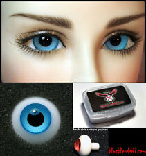 1/3 1/4 bjd 14mm bright blue high quality glass doll eyes dollfie #JS-10 ship US