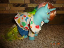 "Vintage My Little Pony ""Starflower"" Unicorn Rainbow Hair Sparkly Stars Outfit"