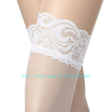 Womens Sheer Lace Top Stay Up Thigh High Hold-ups Stockings Pantyhose