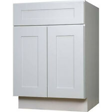 "White Shaker RTA Cabinet Vanity 36"" W x 21"" D x 34.5 H - CabinetMania.com"