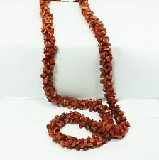 Goldstone Brown Chip Bead Rope Style Necklace (EA2110M) crystal gem healing