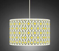 20cm Yellow Mustard Grey Retro Handmade fabric lampshade pendant light Shade 461