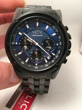 Relic By Fossil Grant Black Stainless Chronograph Men's Watch ZR66035 -HJ