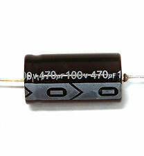 10pc Electrolytic Capacitor GHA Axial 2000hr +105℃ RoHS 470uF 100V φ16x31mm SC