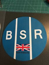 "BSR Birmingham Sound Reproducers 12"" or 7"" Pro DJ SLIPMAT Turntable Platter Mat"