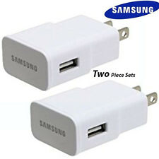 TWO Set OEM Samsung 2.0 AMP Wall Charger for Galaxy S4/S6, N3/N4/N5 Tablet Pad W